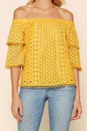 Skies Are Blue EYELET LACE TOP - Product Mini Image