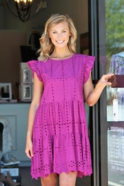 She + Sky Eyelet Lace Woven Dress - Product Mini Image