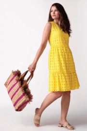Tribal  Eyelet Midi Dress - Product Mini Image