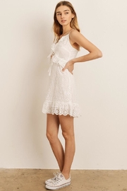 storia Eyelet Midi Dress - Front full body