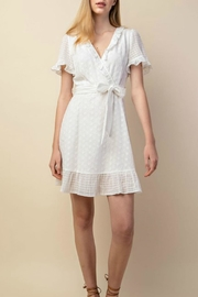 Gilli Eyelet Mock-Wrap Dress - Product Mini Image