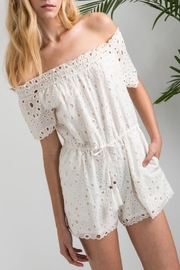 Allison Collection Eyelet Ots Romper - Product Mini Image
