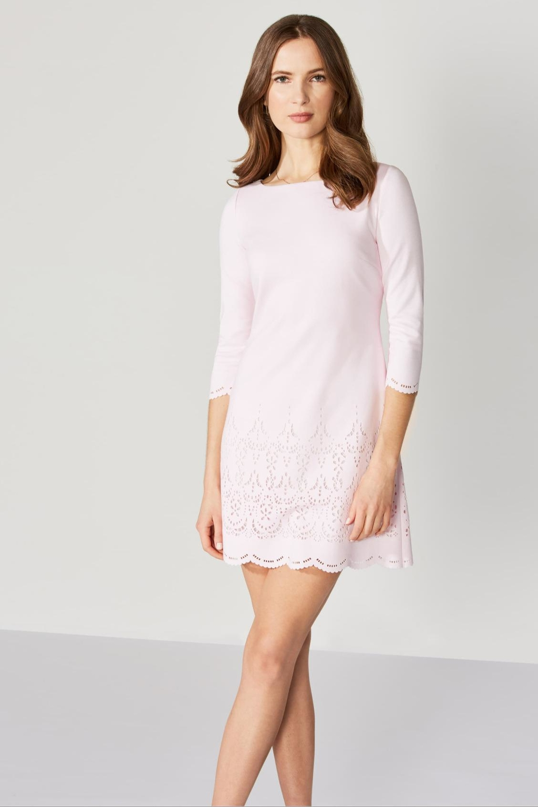 Bailey 44 Eyelet Ponte Dress - Front Cropped Image