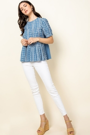 Thml Eyelet Puff Sleeve Top - Side cropped