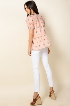 Thml Eyelet Puff Sleeve Top - Alternate List Image