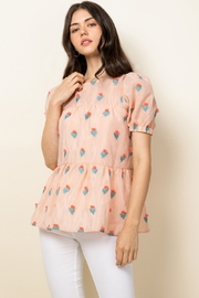 Thml Eyelet Puff Sleeve Top - Product Mini Image