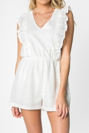 Everly Eyelet Romper - Front cropped