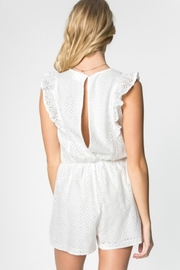 Everly Eyelet Romper - Side cropped