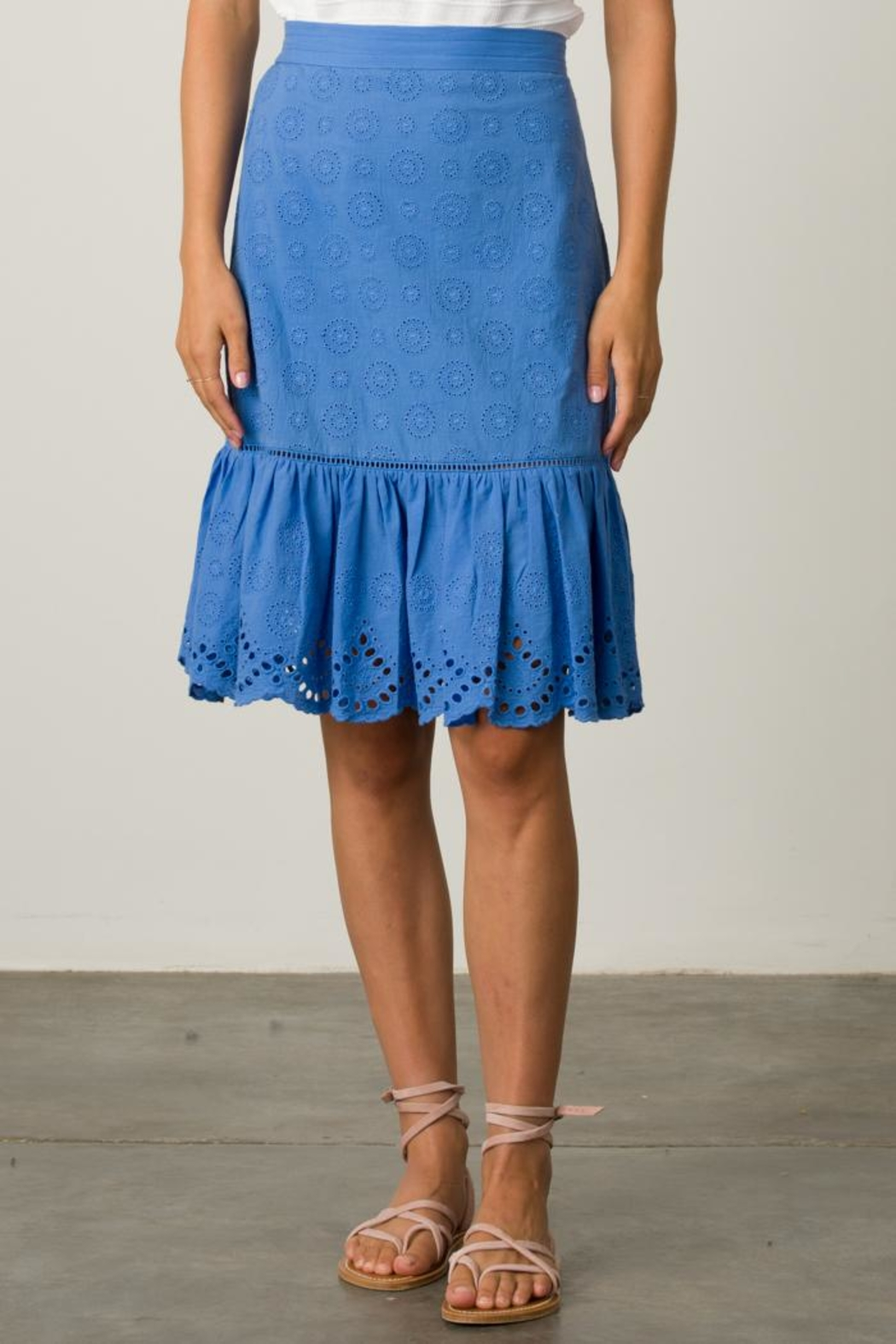 Margaret O'Leary Eyelet Skirt - Front Cropped Image