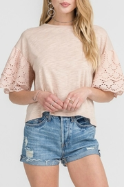 Lush Clothing  Eyelet Sleeve Top - Product Mini Image