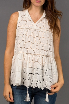 Shoptiques Product: Eyelet Sleeveless Blouse