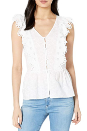 Kensie Eyelet Sleeveless Top - Product Mini Image