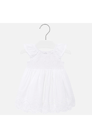 Mayoral Eyelet Smocked Baby Dress - Front cropped