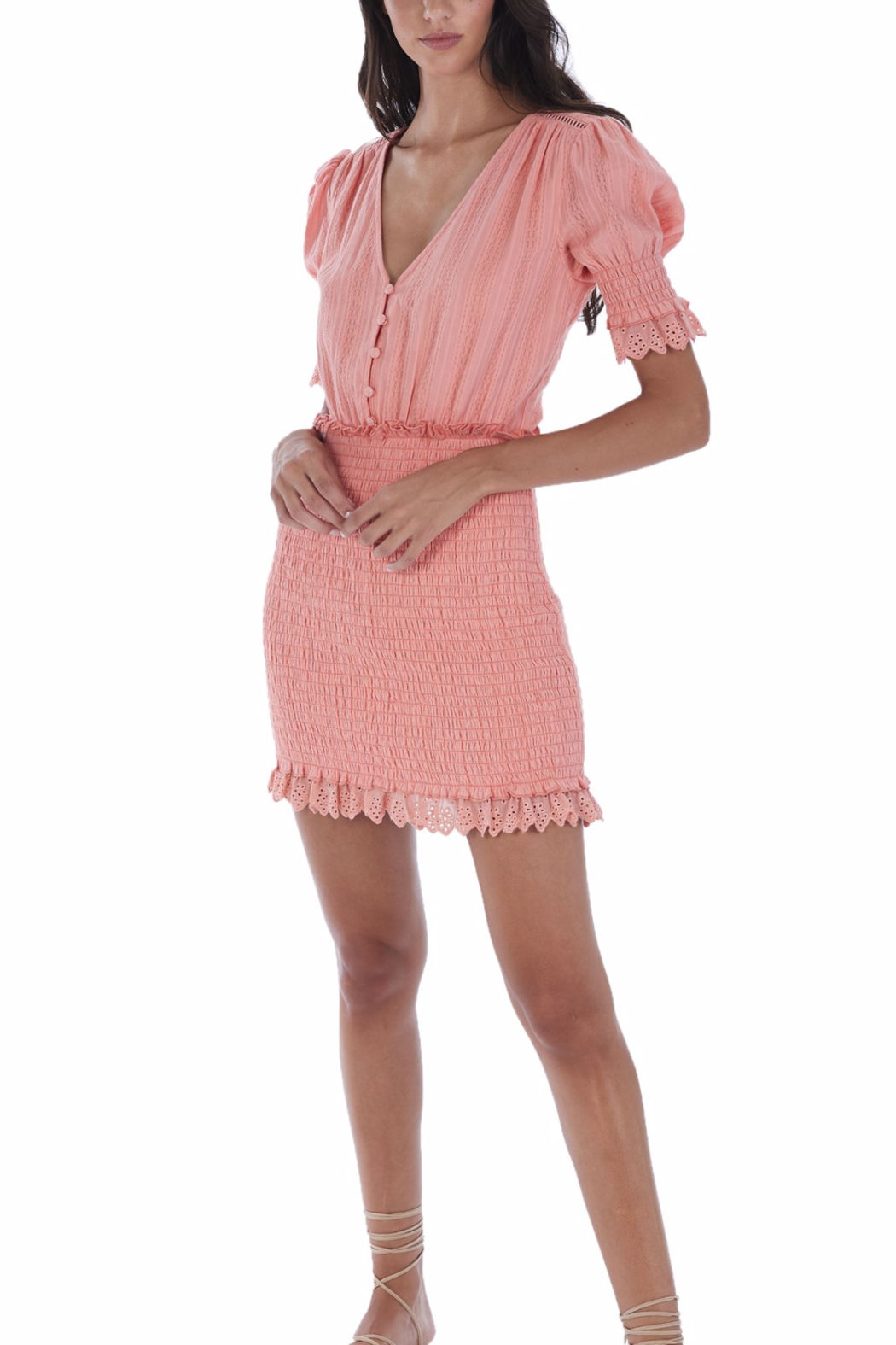 Allison Collection Eyelet Smocked Dress - Main Image