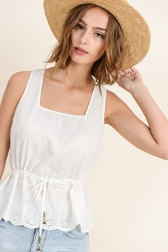 In Loom Eyelet Square Neck Top - Product List Image