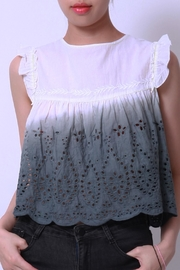 NU New York Eyelet Tank Top - Product Mini Image