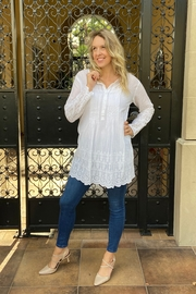 Apparel Love eyelet tunic - Front cropped