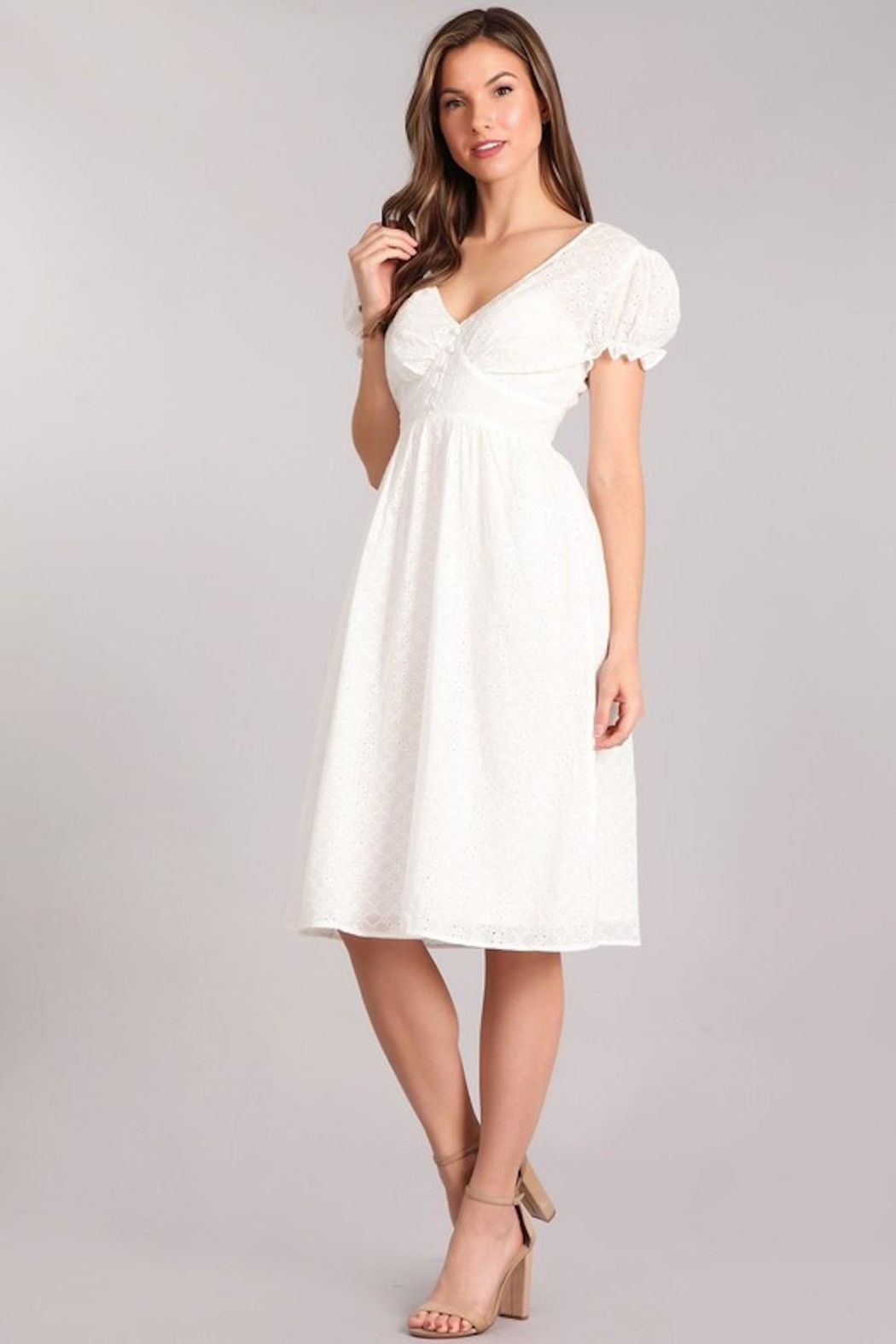 bfbb25eeb59 Verty Eyelet White Midi from Los Angeles by AndyLiz Boutique ...