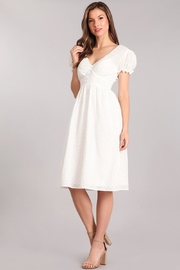 Verty Eyelet White Midi - Front full body