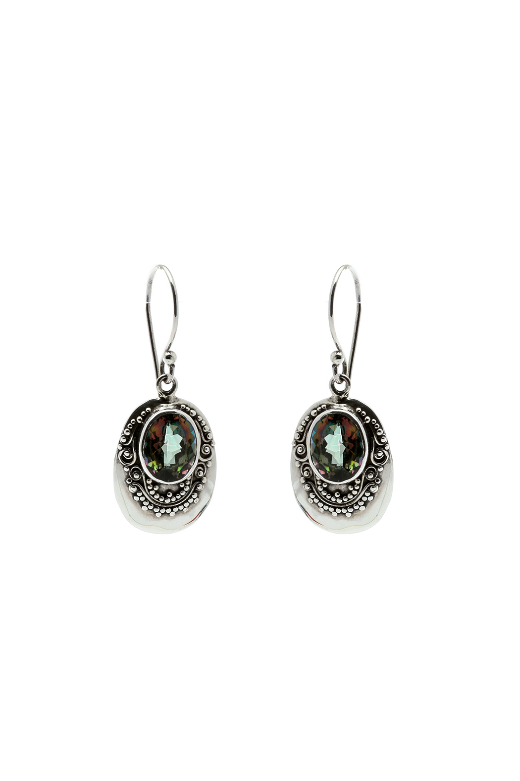 Eyes of the World Imports Mystic Topaz Earrings - Main Image