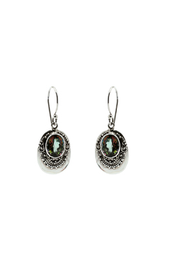 Eyes of the World Imports Mystic Topaz Earrings - Alternate List Image