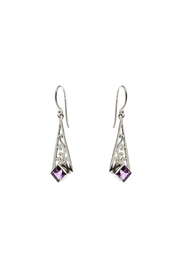 Eyes of the World Imports Sterling Amethyst Earrings - Product Mini Image