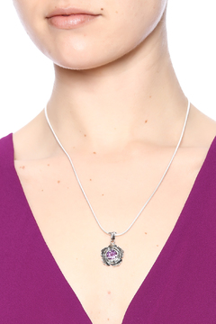Shoptiques Product: Sterling Amethyst Flower