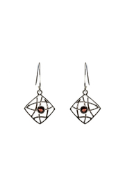 Eyes of the World Imports Sterling Garnet Earrings - Product Mini Image