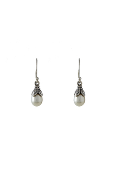 Eyes of the World Imports Sterling Pearl Earrings - Alternate List Image