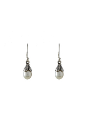 Eyes of the World Imports Sterling Pearl Earrings - Product Mini Image