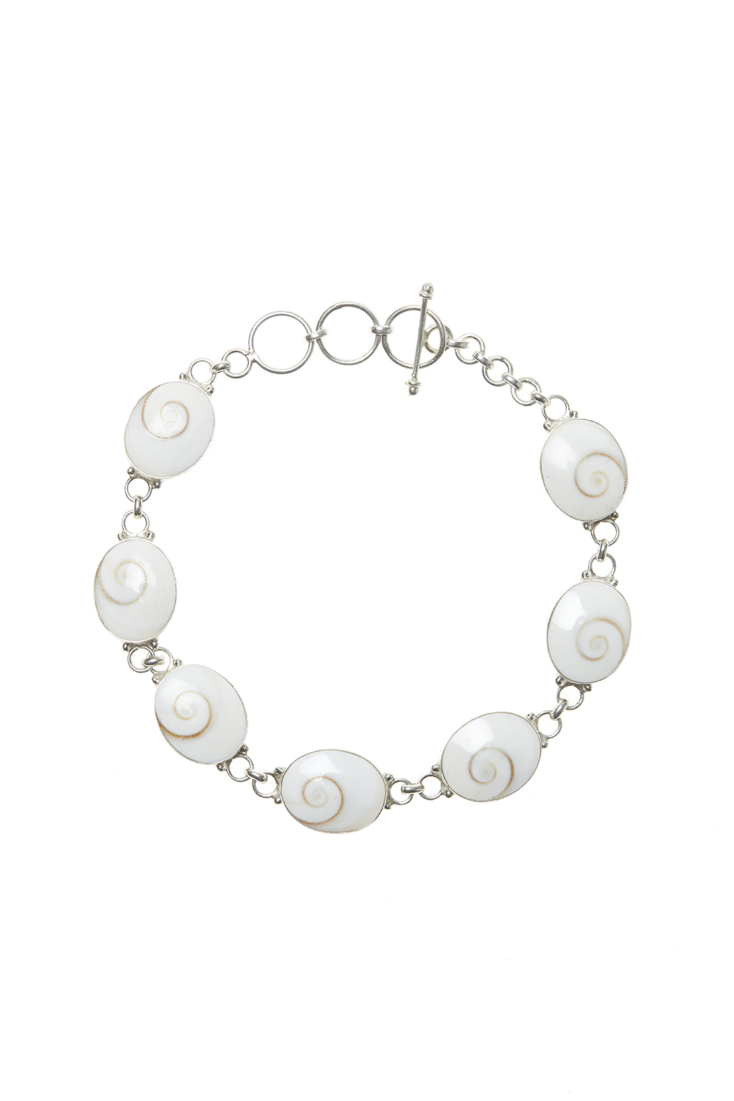 Eyes of the World Imports Sterling Shell Bracelet - Main Image