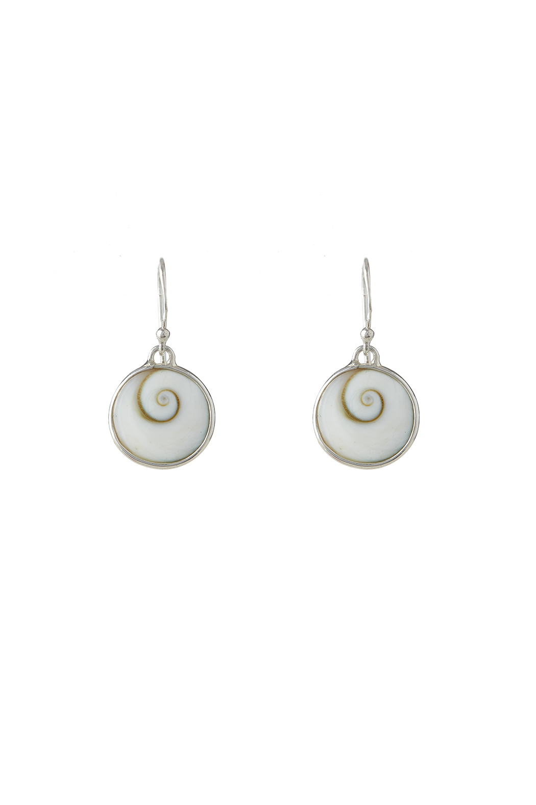 Eyes of the World Imports Sterling Shell Earrings - Main Image