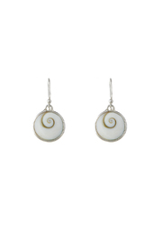 Eyes of the World Imports Sterling Shell Earrings - Product Mini Image