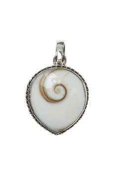 Eyes of the World Imports Sterling Shell Pendant - Alternate List Image