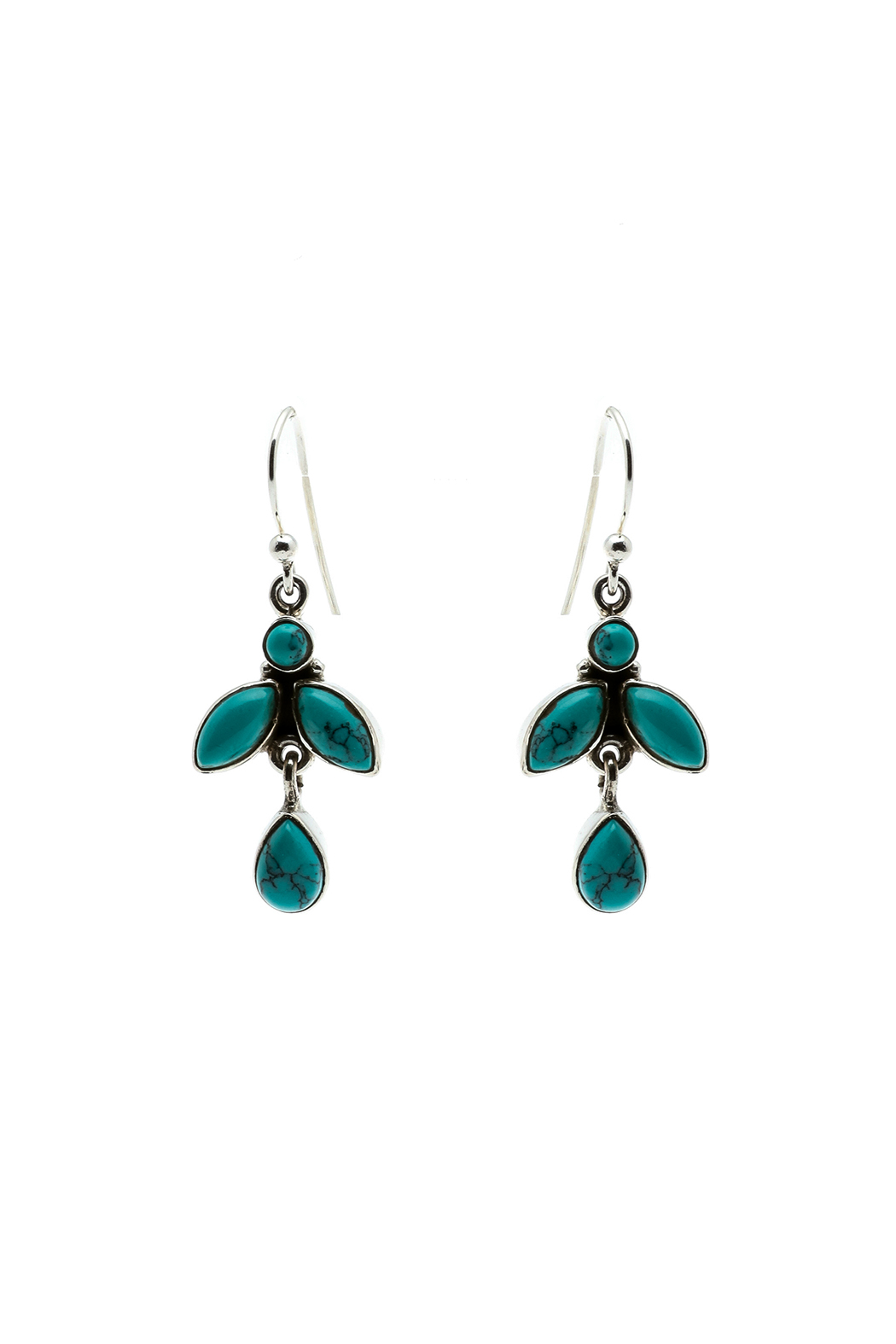 Eyes of the World Imports Sterling Turquoise Earrings - Main Image