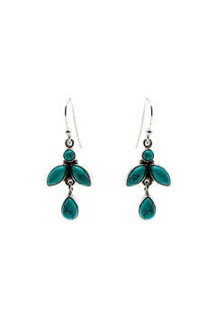 Eyes of the World Imports Sterling Turquoise Earrings - Alternate List Image