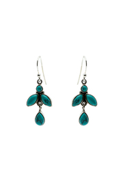 Eyes of the World Imports Sterling Turquoise Earrings - Product Mini Image