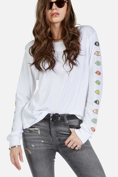 Lauren Moshi Eyes Stripe Longsleeved - Alternate List Image