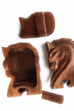 Eyes of the World Imports Wood Horse Box - Alternate List Image