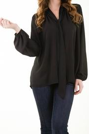 Ezra Black Tie Top - Product Mini Image