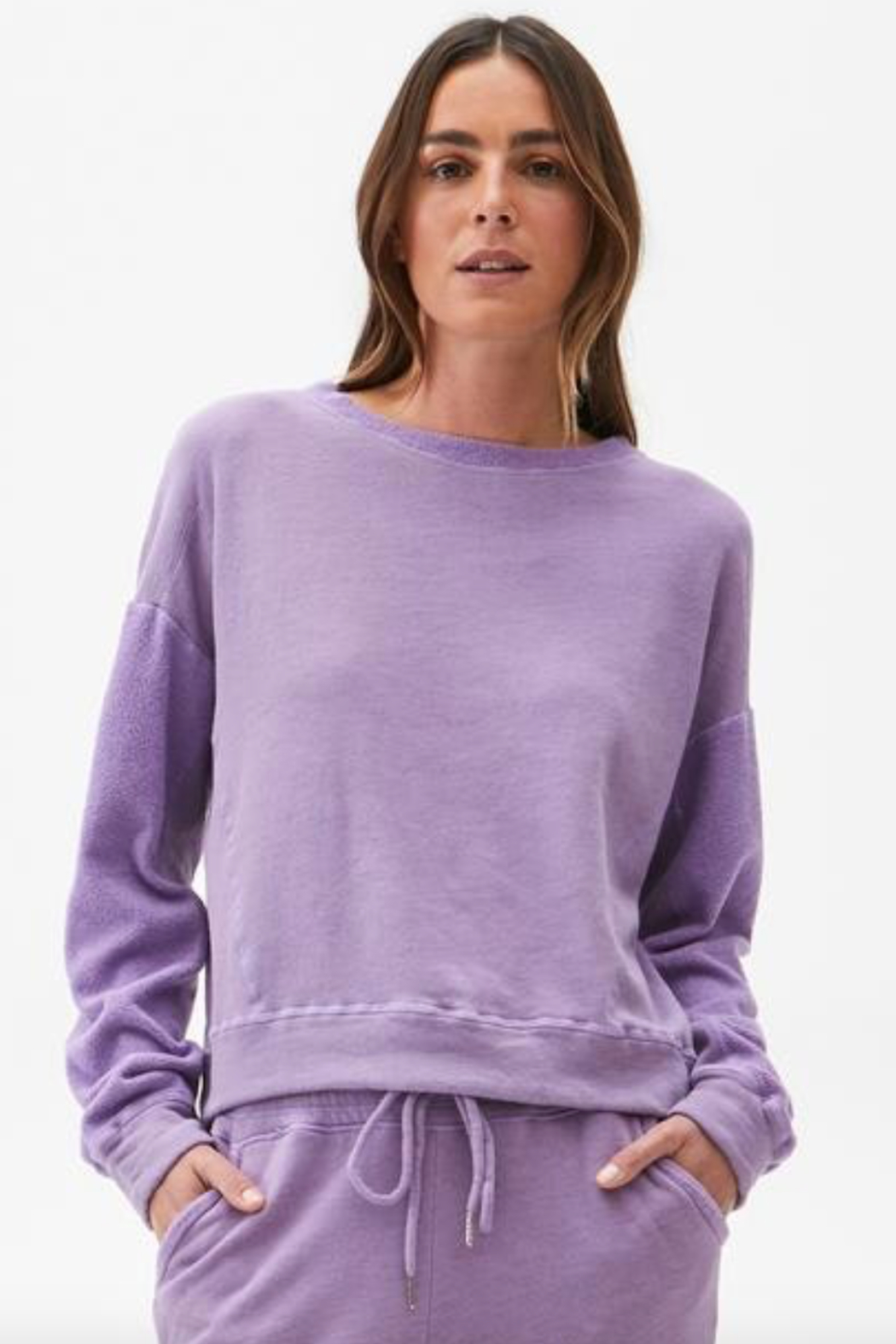Michael Stars Ezra Cropped Sweatshirt - Front Cropped Image