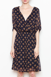 Ezra Navy Mocha Dress - Product Mini Image