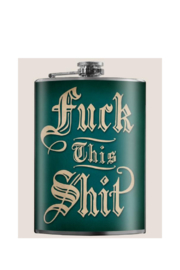 Trixie & Milo F*ck This Shit -Flask - Front cropped