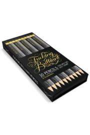 Chronicle Books F*ckig Brilliant Pencil Set - Front cropped