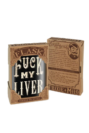 Trixie & Milo F My Liver Vintage Flask - Product Mini Image