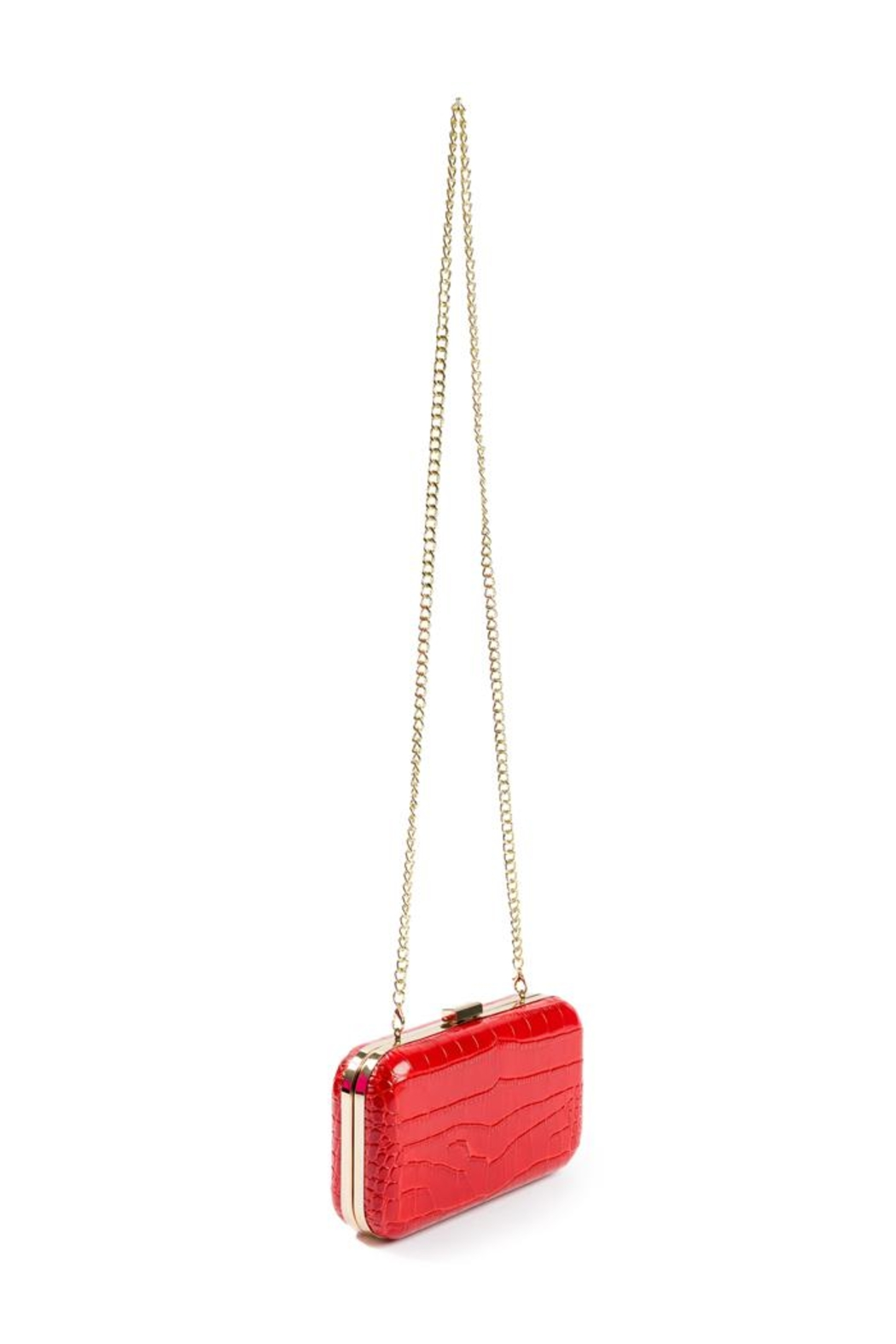 F&W STYLE Italian Leather Clutch - Back Cropped Image