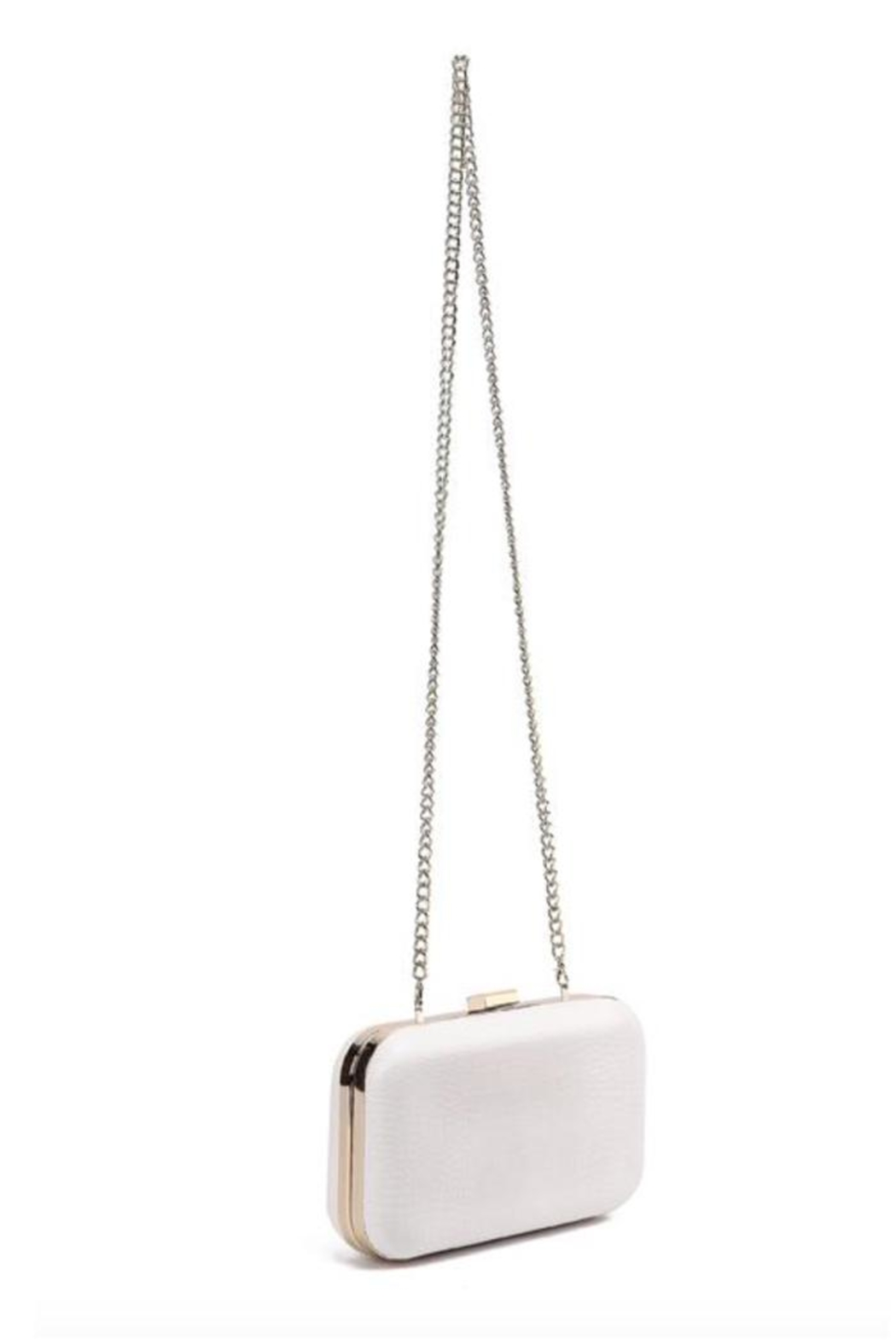 F&W STYLE Italian Leather Clutch - Front Full Image