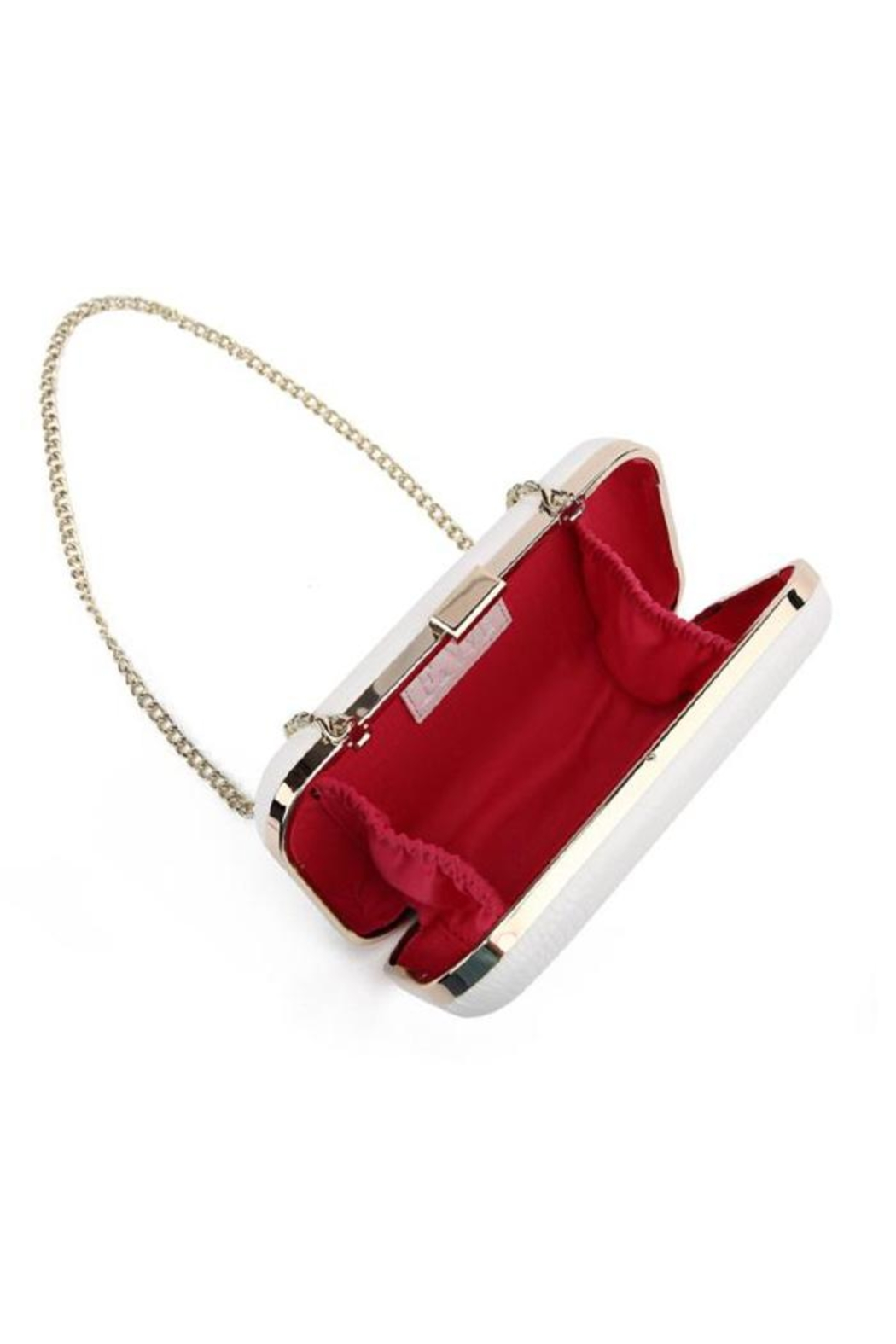 F&W STYLE Italian Leather Clutch - Side Cropped Image