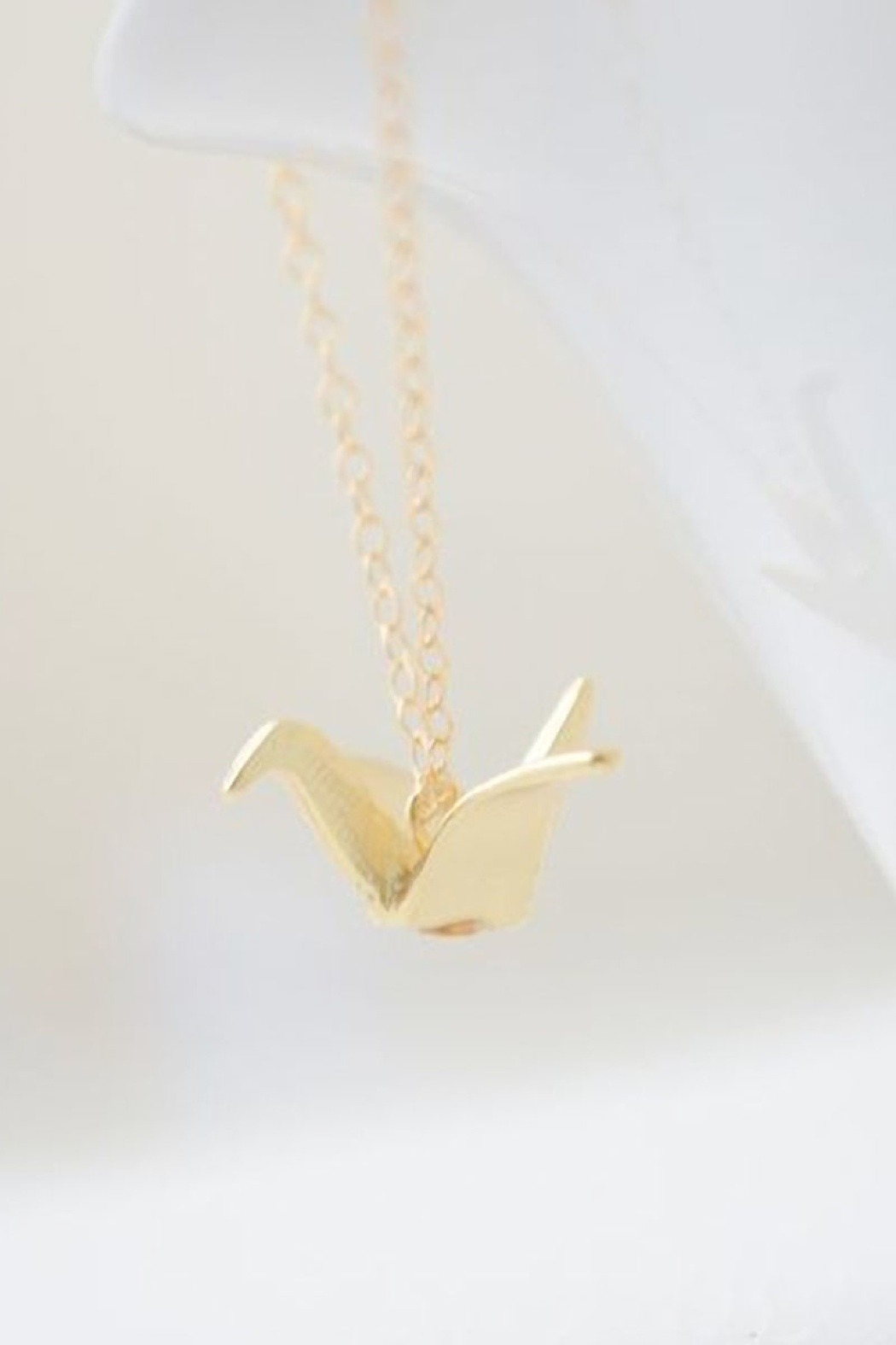 Olive Yew Origami Crane Necklace from North Carolina ... - photo#44
