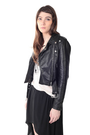Hide label Leather Perfecto Biker Jacket - Side cropped